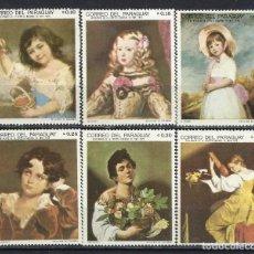 Sellos: PARAGUAY 1968 - NIÑOS EN PINTURAS,S.COMPLETA - SELLOS NUEVOS **. Lote 186226128
