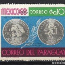Sellos: PARAGUAY 1968 - EVENTOS DEL AÑO 1968 - SELLO NUEVO C/F *. Lote 186246000