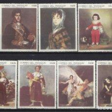 Sellos: PARAGUAY 1969 - PINTURAS DE FRANCISCO JOSÉ DE GOYA, S.COMPLETA - NUEVOS **. Lote 186247395