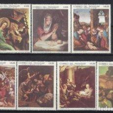 Sellos: PARAGUAY 1969 - NAVIDAD, PINTURAS, S.COMPLETA - SELLOS NUEVOS **. Lote 186247538