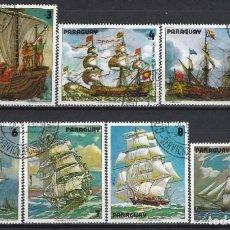 Sellos: PARAGUAY 1979 - PINTURAS DE VELEROS, S.COMPLETA - SELLOS USADOS. Lote 186249518