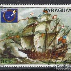 Sellos: PARAGUAY 1980 - EXPO. INTER. DEL SELLO, PINTURAS DE BARCOS - SELLO USADO. Lote 186249773