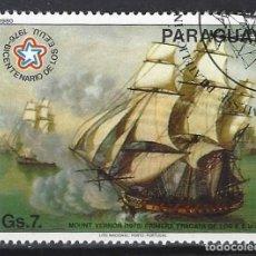 Sellos: PARAGUAY 1980 - EXPO. INTER. DEL SELLO, PINTURAS DE BARCOS - SELLO USADO. Lote 186249783