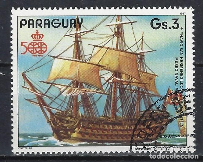 PARAGUAY 1987 - 500 ANIV. DESCUBRIMIENTO DE AMÉRICA, SAN HERMENEGILDO - SELLO USADO (Sellos - Extranjero - América - Paraguay)