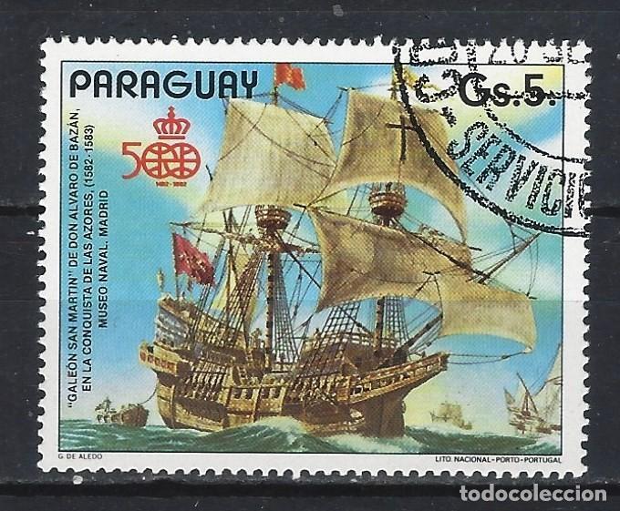 PARAGUAY 1987 - 500 ANIV. DESCUBRIMIENTO DE AMÉRICA, SAN MARTÍN - SELLO USADO (Sellos - Extranjero - América - Paraguay)