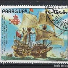 Sellos: PARAGUAY 1987 - 500 ANIV. DESCUBRIMIENTO DE AMÉRICA, SAN MARTÍN - SELLO USADO. Lote 186250366