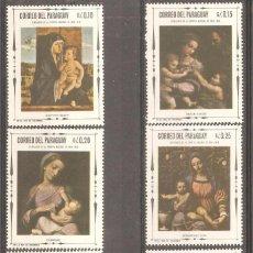 Sellos: PARAGUAY,1968, CAT.YT.930 A 935,NUEVOS,GOMA ORIGINAL,SIN FIJASELLOS.. Lote 186291890