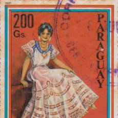 Sellos: SELLO PARAGUAY USADO FILATELIA CORREOS STAMP POST POSTAGE. Lote 192676196