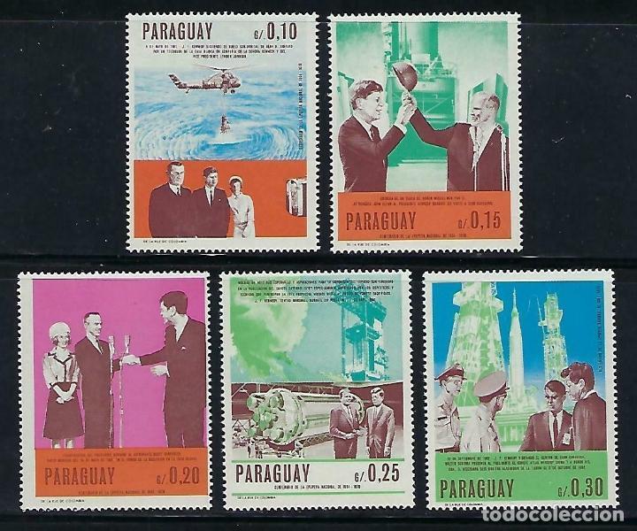 PARAGUAY 1967 IVERT 873/77 *** ANIVERSARIOS EN ESTADOS UNIDOS - JOHN F. KENNEDY (Sellos - Extranjero - América - Paraguay)