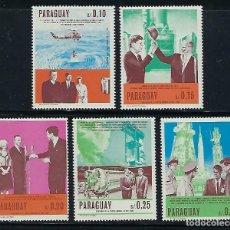 Sellos: PARAGUAY 1967 IVERT 873/77 *** ANIVERSARIOS EN ESTADOS UNIDOS - JOHN F. KENNEDY. Lote 195372747