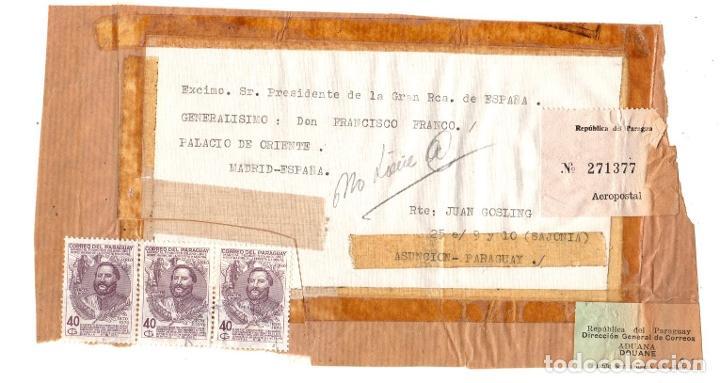 SOBRE DIRIGIDO AL GENERALISIMO FRANCISCO FRANCO DESDE ASUNCION, PARAGUAY. AÑO 1970 (Sellos - Extranjero - América - Paraguay)