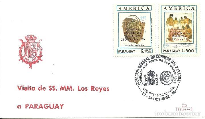 SOBRE CON EL MATASELLO ESPECIAL VISITA REYES A PARAGUAY (Sellos - Extranjero - América - Paraguay)