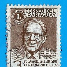 Francobolli: PARAGUAY. 1967. MELVIN JONES. LIONS CLUB. Lote 208171120