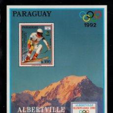 Sellos: PARAGUAY HB 414** - AÑO 1990 - JUEGOS OLIMPICOS DE INVIERNO DE ALBERTVILLE. Lote 216472842