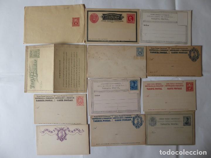 CONJUNTO DE CARTAS Y ENTEROS PÓSTAL DE SUBAMERICA DIFERENTES FECHAS (Sellos - Extranjero - América - Paraguay)