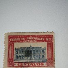 Sellos: L-35 SELLO 1921 REPÚBLICA DEL PARAGUAY 50 CENTAVOS. MATASELLADO. Lote 219292103