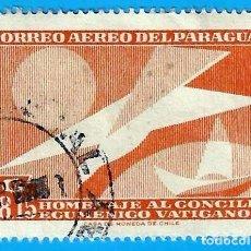 Selos: PARAGUAY. 1962. CONCILIO ECUMENICO VATICANO II. Lote 221342581