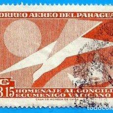 Sellos: PARAGUAY. 1962. CONCILIO ECUMENICO VATICANO II. Lote 221342606