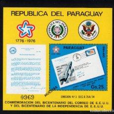Sellos: PARAGUAY HB 232/33** - AÑO 1976 - BICENTENARIO DEL CORREO DE ESTADOS UNIDOS. Lote 221809771