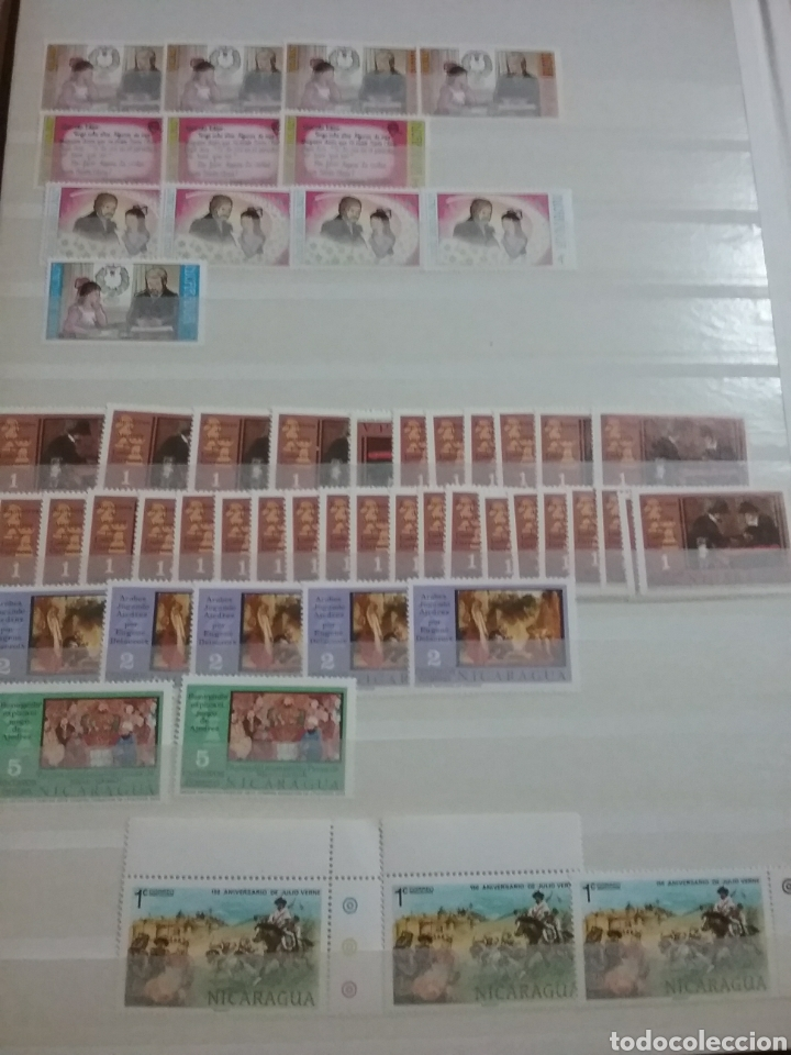 Sellos: Sellos Colección R. Nicaragua mtdos y nuevos/series campletas/década 80/stock/flora/faun/arte/Clasi1 - Foto 6 - 221894743