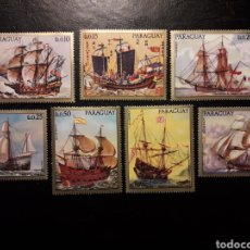 Francobolli: PARAGUAY YVERT 1211/7. SERIE COMPLETA NUEVA ***. PINTURAS DE BARCOS.. Lote 223052480