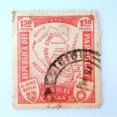 Sellos: SELLO POSTAL PARAGUAY 1935, 1,50 PESOS, EL CHACO BOREAL DEL PARAGUAY, USADO. Lote 233273490