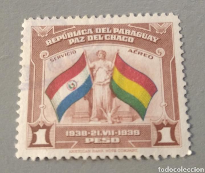SELLO PARAGUAY 1939 PAZ DEL CHACO (Sellos - Extranjero - América - Paraguay)