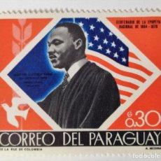 Sellos: SELLO DE PARAGUAY 0.3 G. 1968 - MARTIN LUTHER KING - NUEVO SIN SEÑAL DE FIJASELLOS. Lote 236550635