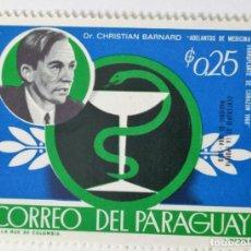 Sellos: SELLO DE PARAGUAY 0.25 G. 1968 - DOCTOR BARNARD - NUEVO SIN SEÑAL DE FIJASELLOS. Lote 236551675