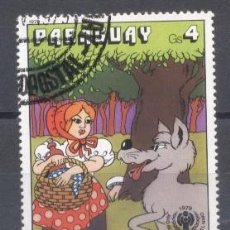 Sellos: PARAGUAY,1978, CAPERUCITA ROJA. Lote 236744085