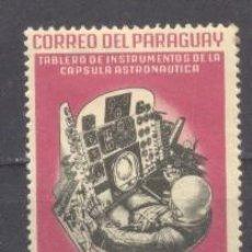 Sellos: PARAGUAY,TABLERO INSTRUMENTAL DE LA CAPSULA AUSTRONAUTICA. Lote 236765880