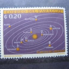 Francobolli: +PARAGUAY, 1962, PLANETAS DEL UNIVERSO, YVERT 700. Lote 241306070