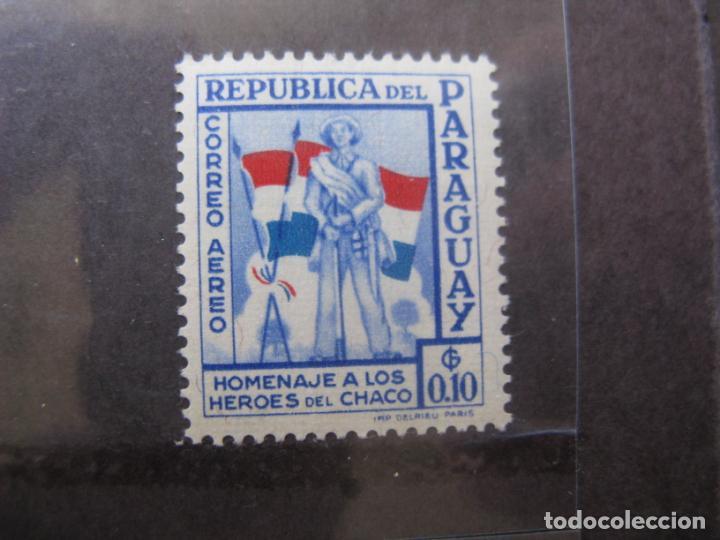 +PARAGUAY, 1957, HOMENAJE A LOS HEROES DE CHACO, YVERT 225 AEREO (Sellos - Extranjero - América - Paraguay)