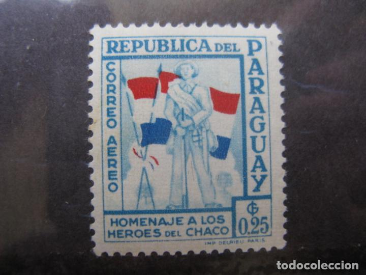 +PARAGUAY, 1957, HOMENAJE A LOS HEROES DE CHACO, YVERT 228 AEREO (Sellos - Extranjero - América - Paraguay)