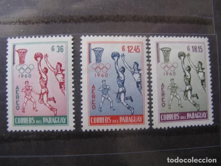 +PARAGUAY, 1960, JUEGOS OLIMPICOS DE ROMA, YVERT 254/56 AEREOS (Sellos - Extranjero - América - Paraguay)