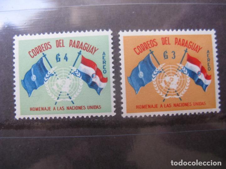 +PARAGUAY, 1960, 15 ANIVERSARIO DE NACIONES UNIDAS, YVERT 264/65 AEREOS (Sellos - Extranjero - América - Paraguay)