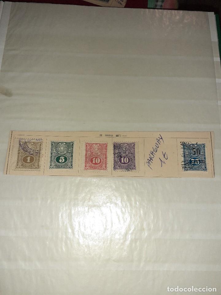 LOTE DE 5 SELLOS PARAGUAY 1910/11. CIRCULADOS. CON CHARNELA. (Sellos - Extranjero - América - Paraguay)