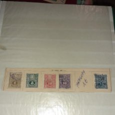 Sellos: LOTE DE 5 SELLOS PARAGUAY 1910/11. CIRCULADOS. CON CHARNELA.. Lote 243518090