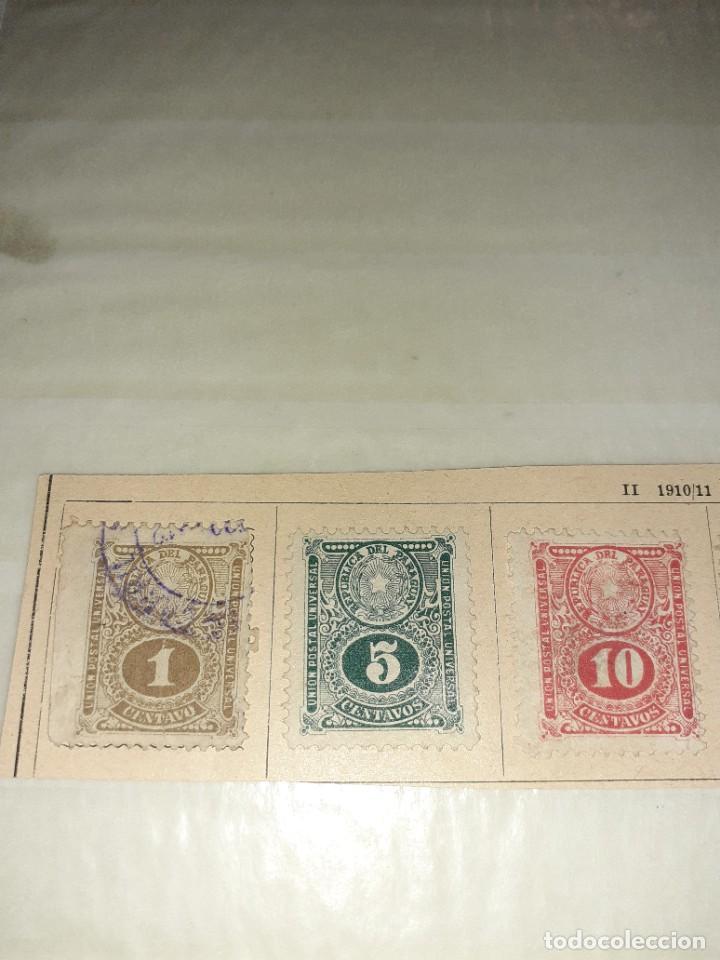 Sellos: Lote de 5 sellos Paraguay 1910/11. Circulados. Con charnela. - Foto 2 - 243518090