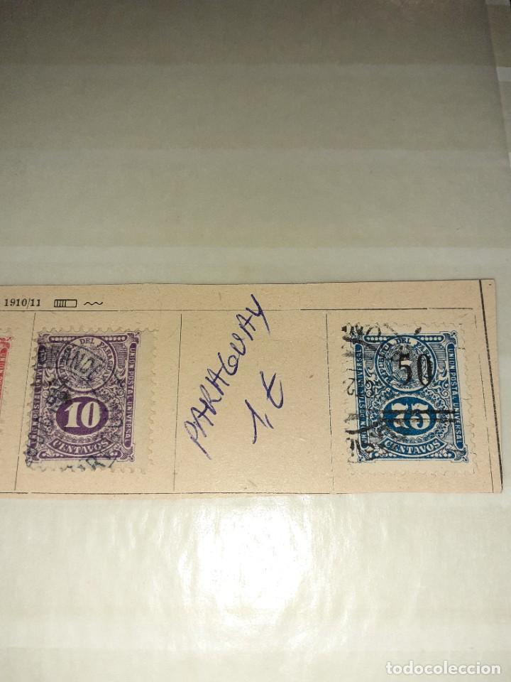 Sellos: Lote de 5 sellos Paraguay 1910/11. Circulados. Con charnela. - Foto 3 - 243518090