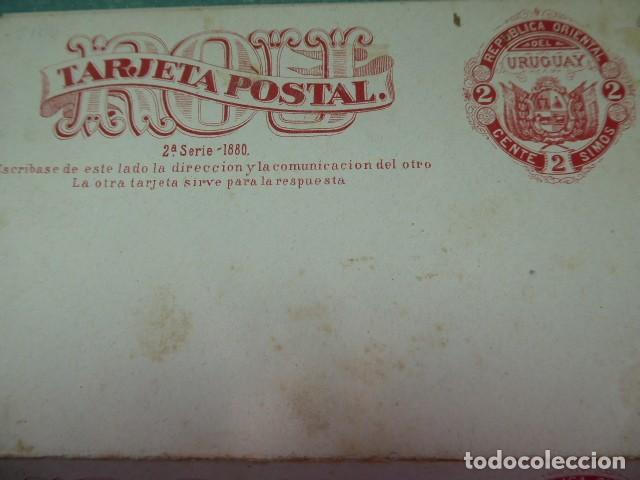 Sellos: tres enteros postal de 1880 uruguay y paraguay dobles sin circular - Foto 2 - 243975635