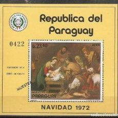 "Sellos: PARAGUAY. 1972. ""MUESTRA"". NAVIDAD. MURILLO. ARTE. PINTURA.. Lote 244818990"