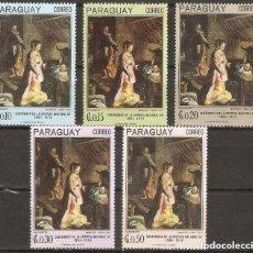 Sellos: PARAGUAY. 1967. PINTURAS. MI 1700/1704. ARTE. Lote 244819425
