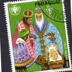 Sellos: AMÉRICA. PARAGUAY. NAVIDAD 1980 Y AÑO INTERNACIONAL DE LOAS NIÑOS . YT1773. USADO SIN CHARNELA. Lote 253191950