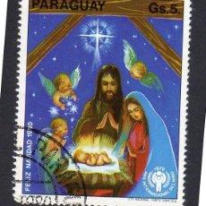 Sellos: AMÉRICA. PARAGUAY. NAVIDAD 1980 Y AÑO INTERNACIONAL DE LOAS NIÑOS . YT1772. USADO SIN CHARNELA. Lote 253192090