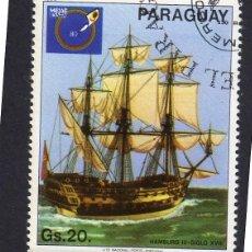 Sellos: AMÉRICA. PARAGUAY. EXHIBICIÓN INTERNACIONAL DE BARCOS, HAMBURGO III . YT1763. USADO SIN CHARNELA. Lote 253192880