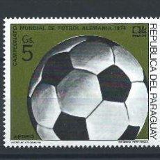 Sellos: PARAGUAY PA (4, 5, 10 GS) NEUF** (MNH) 1974 - COUPE DU MONDE DE FOOTBALL À MUNICH. Lote 260484710