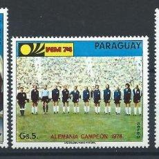 Sellos: PARAGUAY PA N°688/90** (MNH) 1975 - COUPE DU MONDE DE FOOTBALL À MUNICH. Lote 260489585