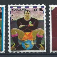 Sellos: PARAGUAY PA N°679/81** (MNH) 1974 - COUPE DU MONDE DE FOOTBALL À MUNICH. Lote 260491675