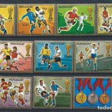 Sellos: PARAGUAY N°1325/31 + PA 655/57** (MNH) 1973 - COUPE DU MONDE DE FOOTBALL À MUNICH. Lote 260493265